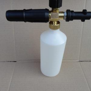 Пенная насадка для бытовой минимойки Karcher (Керхер) с пластиковым переходником