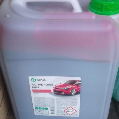 Активная пена «Active Foam Pink» цветная пена 23 кг для автомоек