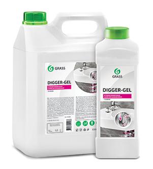 Средство щелочное для прочистки канализационных труб «DIGGER-GEL» (канистра 5,3 кг)