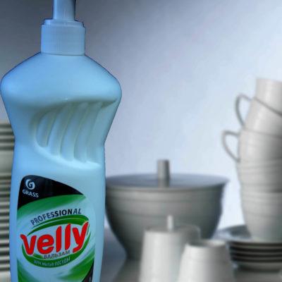 Средство для мытья посуды  «Velly» Бальзам (флакон 1 л)