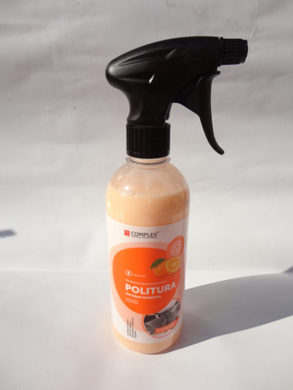 Полироль очиститель Complex Politura Апельсин 0,5 л. матовый